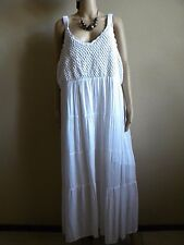 Studio West women  Plus  SIZE 3X  white crocheted Maxi Dress Boho  India NWT