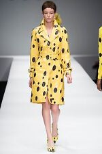 MOSCHINO COUTURE SZ IT40 UK8 US6 YELLOW SPONGEBOB RUNWAY COAT