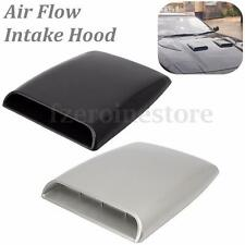 Universal Decorative Air Flow Intake Scoop Turbo Bonnet Vent Cover Hood Silver F