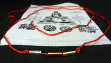 Buddha blessed YANTRA TAKRUT LONG RED CORD NECKLACE / BRACELET with PHA YANT