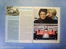 QUATTROR980-RITAGLIO/CLIPPING/NEWS-1980- PATRICK DEPAILLER -2 fogli