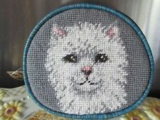 PERSIAN  CAT   HAND CRAFTED NEEDLEPOINT COIN PURSE     307