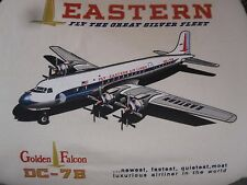"EASTERN AIRLINES DC-7B ""GOLDEN FALCON"" GRAPHIC AIRPLANE TEE SHIRT  - 'L' SIZE"