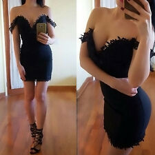 Women's Summer Bandage Bodycon Sleeveless Evening Party Cocktail Mini Dress New