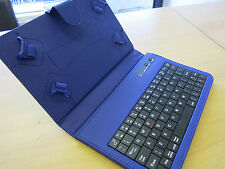 "Blue Bluetooth Keyboard Carry Case & Stand for BlackBerry PlayBook 7"" Tablet PC"