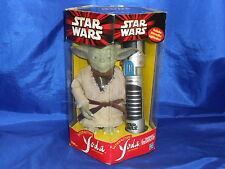 Interactive Yoda and Lightsaber Star Wars Action Figure Sealed Tiger Hasbro 2000