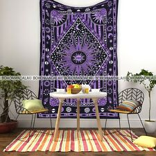 Tapestry Wall Hanging Purple Sun Bohemian Hippie Curtain Twin Beach Throw Celtic