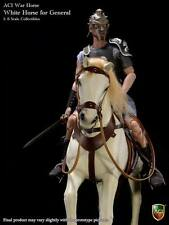 "ACI 1/6 Scale 12"" White War Horse for Roman General Action Figure ACIH04"