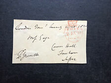 CHARLES FULKE GREVILLE - EARLY CRICKETER WITH THE M.C.C. - SIGNED ENVELOPE FRONT
