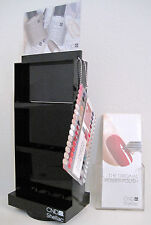 CND SHELLAC SALON SPINNER RACK DISPLAY ~ holds 24 polishes, FREE color tips, etc