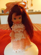 CROCHET FASHION DOLL KELLY OUTFIT-SWEET & SIMPLE #20-DOLL INCLUDED
