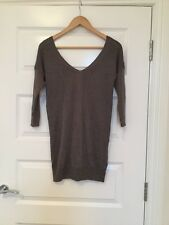 Ladies Next v neck long jumper in brown and copper size 6
