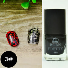 6ml Born Pretty Nail Art Stamping Polish Black Nail Plates Printing Polish #3
