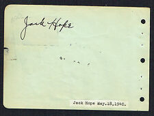 Jack Hope (d 1962) signed autograph 4x5 Album Page Film Producer & Bob's Brother