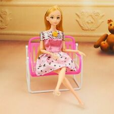 Mini Kid Girl Barbie Doll Furniture Chair Toy Accessories Living Room Dollhouse