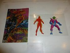 """MARVEL ACTION MAN Comic - """"Genesis"""" - Fantastic Four / Iron Man (With Transfers)"""