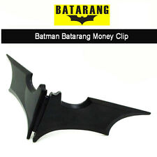 US Shipping Batman Metal Bats Dart  Gear Magnetic Wallet Money Clip Card Holder