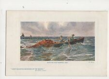 R West Setting The Trammel Net [Tuck 9734] Fisher Life Vintage Art Postcard 265b