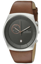 Skagen SKW6085 Men's Havene Klassik Leather Band Chronograph Slim Dress Watch