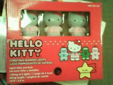 Hello Kitty Christmas Blinking Lights 1 string of 8 lights new in box