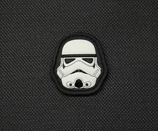 3D PVC Mini Stormtrooper Helmet Star Wars Morale Patch First Order VELCRO® Brand