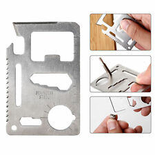 11-in-1 Mini Credit Card Multi Gadget Camping Tool Survival New with Carry Case