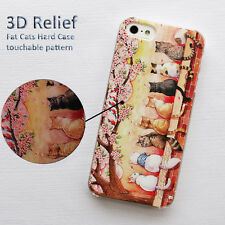 Animal Fat Ass Cat Cartoon Retro Vintage 3D Patterned Hard Case For iPhone 6 4.7