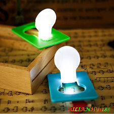 Colorful Slice Cute Pocket Wallet Credit Card Size LED Night Light Lamp Bulbs hy