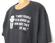 The Office Men's Tshirt Tee Gray 4XLT I Want People Afraid Of How Much Love Me