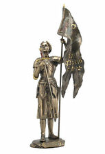 NEW JOAN OF ARC STANDING With Sword & Flag Statue Sculpture Figurine FAST SHIPPI