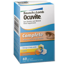 Bausch & Lomb Ocuvite Complete 60 Capsules 1 Months Supply Vitamin Supplements