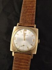 Wittnauer Men's Watch Vintage 10k Gold Filled Mechanical 1970's Square
