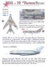 Print Scale Decals 1/48 MIKOYAN MiG-19 FARMER Russian Fighter