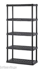 Keter Poly Resin 5 Tier Shelf 36 x 18 x 72 Garage Storage Utility Rack Organizer