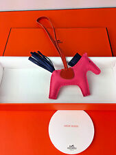 NEWEST COLOR! Hermes Rodeo Horse bag charm PM Rose Azalee/Blue Malte/Cornaline