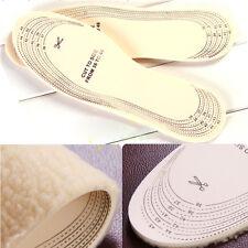 Unisex Men Wemen Winter Warm Soft  Wool Winter Shoe Insole Pad Size 36-46
