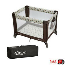 Baby Playard Folding Pack 'n Play Toddler Portable Bed Playpen Cot Aspery Travel