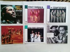 Rhythm and blues and funk CD booklets( Motown, Gamble and Huff, James Brown)