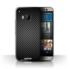 STUFF4 Back Case/Cover/Skin for HTC One/1 M9/Carbon Fibre Effect/Pattern