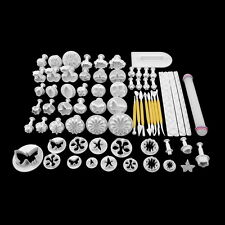 68Pcs Fondant Cake Decor Sugarcraft Plunger Cutter Tools Cookies Mold Mould FE