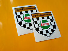 CASTROL Liquido Engineering SCUDO auto moto Adesivi Decalcomanie 2 Largo 80mm