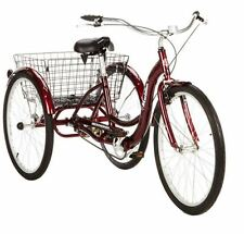 Schwinn Adult Tricycle 3 Wheel Bicycle Bike Three Wheeler Beach Cruiser Cherry
