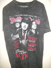 AC/DC on the COVER of ROLLING STONE mens T-SHIRT - size med- color BLACK