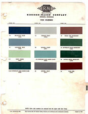 1952 HUDSON PACEMAKER COMMODORE WASP HORNET SUPER 52 PAINT CHIPS RINSHED MASON 3