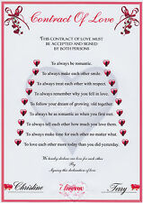 Contract Of Love with Embossed Heart (A4 130gms Matt Photo paper)