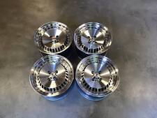 "15"" Stuttgart ST4 Alloy Wheels SILVER POLISHED VW Polo Lupo Clio 4x100 Golf MK1"