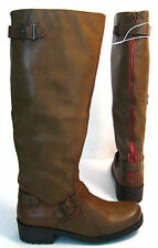 "NWT Mossimo Kayce Size 8 Cognac *15"" Wide Shaft Top Riding Motorcycle Boots"