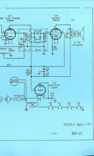 Nice *COPY* Bulova 160 & 170 AM Transistor Clock Radio Schematic Diagram