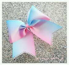 Blue and Pink Ombre Cheer Bow Cheerleading Dance Hair Bow