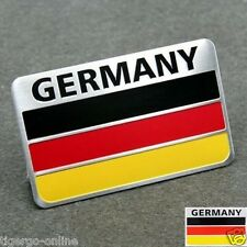 TIGERGO | 3D METAL LOGO Emblem Badge Decal Sticker for CAR BIKE | GERMANY FLAG